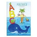 Kinder lieben Ausmalen! - ABC Malbuch mit Buchstaben DIN A4, für Kinder ab 3 Jahre, Ausmalbuch, verschiedene Tiere, wie Wal, Bär, für Jungen und Mädchen