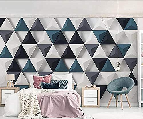 Tapete 3D Wandbild Dreieck Mode 3D Wandbilder Wohnzimmer Sofa TV Wand Schlafzimmer Tapete fototapete 3d Tapete effekt Vlies wandbild Schlafzimmer-200cm×140cm