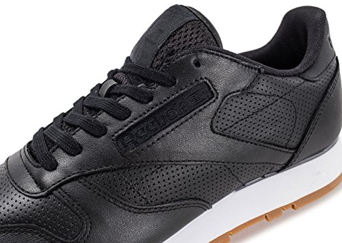 Reebok Classic Leather Herren Sneaker Schwarz