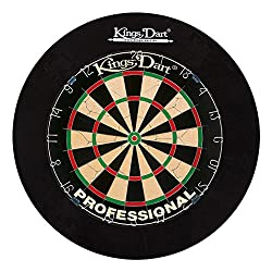 Kings Dart Dart Set Professional | Tournament Dartboard + Dart-Surround | Sisal bristles, spider field boundary | Security for wall and darts | For soft and Steeldarts | brand quality