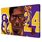 Basketball superstar Kobe Bryant LeBron James Vince Carter Rose Los Angeles Lakers KOMINGART Painting Canvas Prints Bedroom Large home decor Wall Art Picture canvas wall (Canvas roll:16x24(inch),CY00405)