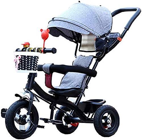 Kinder Trikes mit Vollreifen 4-in-1 für 6 Monate bis 6 Jahre Alt Junge und mädchen Dreirad mit Markise Sitz Drehbar
