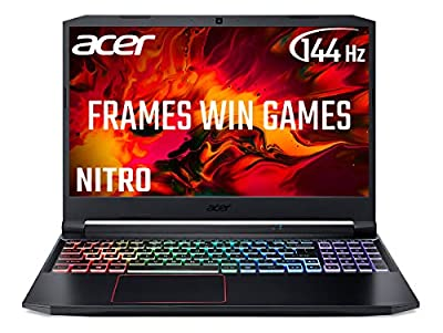 Acer Nitro 5 AN515-55 15.6 inch Gaming Laptop (Intel Core i7-10750H, 8GB RAM, 512GB SSD, NVIDIA GTX 1660Ti, Full HD 144Hz Display, Windows 10, Black) from Acer