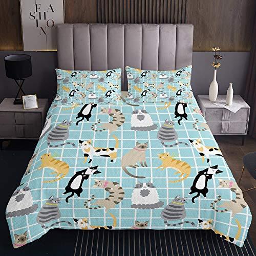 Juego de cama para niños con diseño de gato y gato negro, juego de cama de tamaño king para mascotas, casa de granja y animales para bebés, niños y niñas, decoración de dormitorio