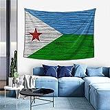N\A Wandteppich Wandteppich, Flagge von Dschibuti Holz Textur Wandteppiche für Wohnheim Wohnzimmer Schlafzimmer, Wanddecke Strandtücher Home Decor