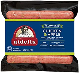 Aidells Smoked Chicken Sausage Breakfast Links, Chicken & Apple, 8 oz. (10 Fully Cooked Links)