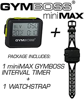 Gymboss Bundle - 2 Items: 1 miniMAX Interval Timer and Stopwatch + 1 Watch Strap