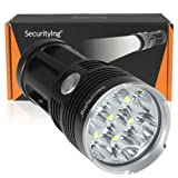 SecurityIng Leistungsstark 4200LM 7x T6LED Taschenlampe mit wasserdicht & Selbstverteidigung