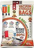 DIBAG 6 Bolsas de almacenaje al vacio de ropa para ahorrar espacio. Para guardar...