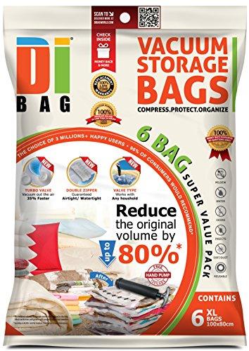 DIBAG 6 Bolsas almacenaje vacío ropa ahorrar espacio