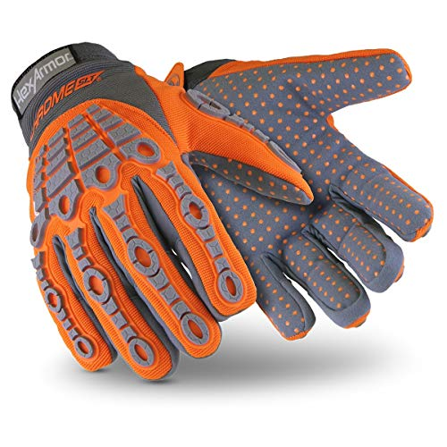 HexArmor Chrome SLT 4070 Safety Work Gloves with Impact Protection and 360 Cut Resistance, Large, 1 Pair
