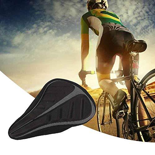 Black Bike Seat Cushion, met silicagel fietsstoelen Kwaliteit Materiaal Brede fietszadel voor fietsenvervanging accessoire