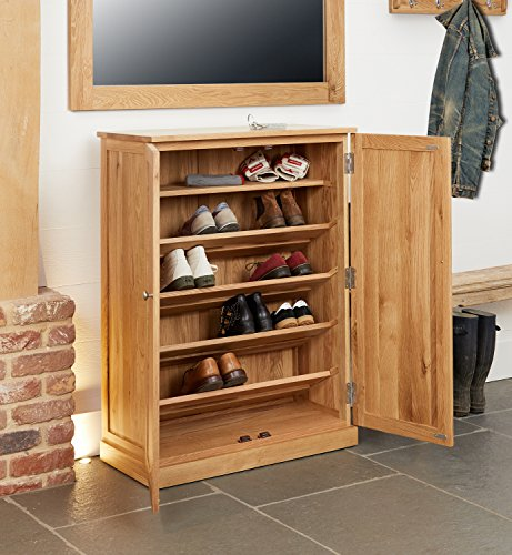 baumhaus Mobel Oak Large Shoe Cupboard