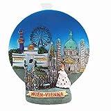 3D-Kühlschrankmagnet, Wien, Österreich, Reise-Souvenir, Geschenk, Heimküche, Dekoration, Magnet-Aufkleber, Wien, Österreich, Kühlschrank-Magnet-Kollektion