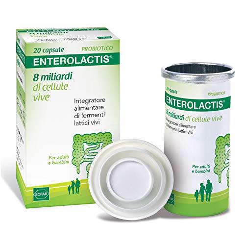 Sofar Enterolactis Integratore Alimentare di Fermenti Lattici Vivi, Confezione da 20 Pezzi