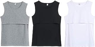 【hanano】授乳口 タンクトップ 授乳服 3枚組 産前 産後 年中使える インナー マタニティ ウェア 肌着 3色セット