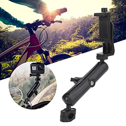 Wosune Soporte de Espejo retrovisor para Manillar, Soporte de Motocicleta para cámara de acción Soporte para Motocicleta para teléfonos móviles para cámara de acción para cámara