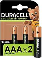 Duracell Şarj Edilebilir AAA 750mAh Piller, 2'li paket