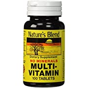 Nature's Blend Multi-Vitamin No Minerals 100 Tabs