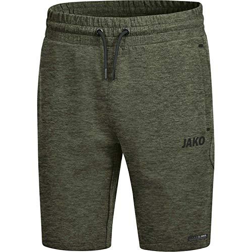JAKO Herren Premium Basics Shorts, Khaki meliert, L