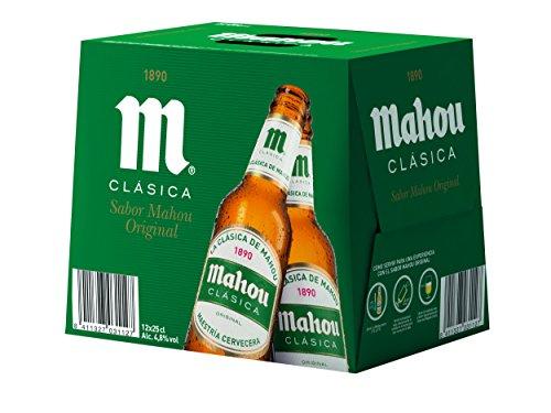 Mahou Clásica Cerveza Dorada Lager, 12 x 25cl