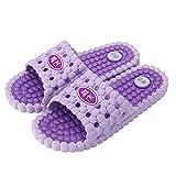 Nwarmsouth Zapatillas de Gimnasio de Suela Blanda, Zapatillas de casa Antideslizantes, Sandalias de Masaje de baño-Purple_44-45, Zapatos de Ducha y Playa para Piscina