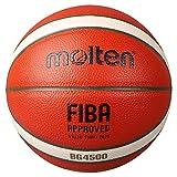 MOLTEN B7G4500 Baloncesto, Interior, Aprobado por Fiba, Balón de Juego Oficial FEB, Naranja/Marfil, 7