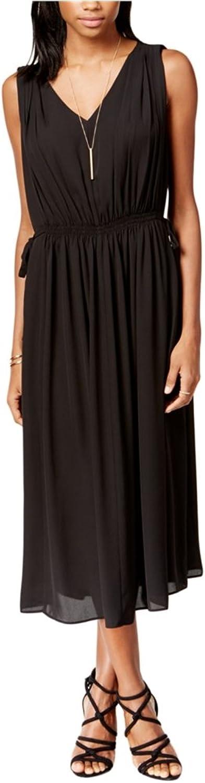 Bar Iii Womens Sleeveless VNeck Midi ALine Empire Dress