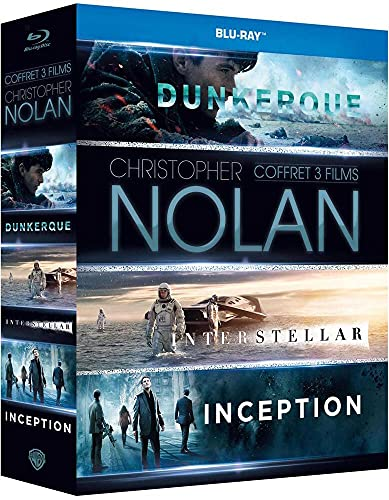 Coffret nolan 3 films : inception ; interstellar ; dunkerque [Blu-ray] [FR Import]