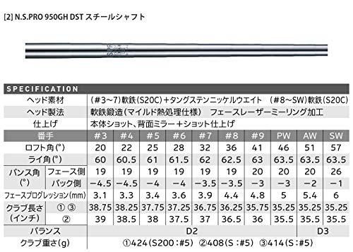 ダンロップ(DUNLOP)スリクソンZX7アイアン単品N.S.PRO950GHDSTスチールシャフトメンズ右利きロフト角:57度番手:SWフレックス:Sゴルフクラブ