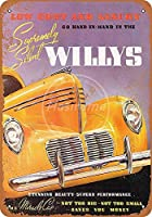 ウィリーズカーロードティンサイン壁鉄絵レトロプラークヴィンテージメタルシート装飾ポスターおかしいポスター吊り工芸用バーガレージカフェホーム