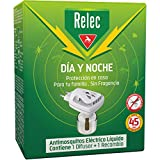 Relec Día y Noche - Difusor y Recambio Antimosquitos Eléctrico Líquido - 45 noches de protección - Sin fragancia - 35 ml