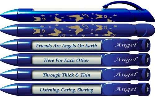 Greeting Pen Angel Friend Appreciation Pens with Rotating Messages 6 Pen Set 36513 product image