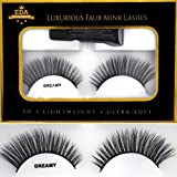 EDA LUXURY BEAUTY DREAMY 3D Faux Mink False Lashes | Super Soft Natural Look | Full Volume | Extra Long Length | Eyelash Extensions | Smokey Cat Eye Effect | Vegan & Cruelty-Free | Fake Eyelashes
