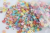BrilliantDay 10000 Piezas 3d Carino clavo de arte Cañas de Fimo palo pegatinas caras del ...