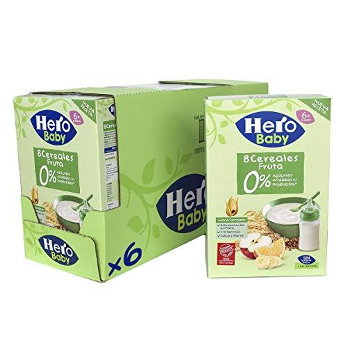 Hero Baby - Papilla de 8 Cereales con Fruta sin Azúcares A