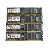 Kingston KVR400D8R3A/1G 1GB PC3200DIMM ddr-400mhz ECC REG CL3184-pin módulo de Unidades de 4
