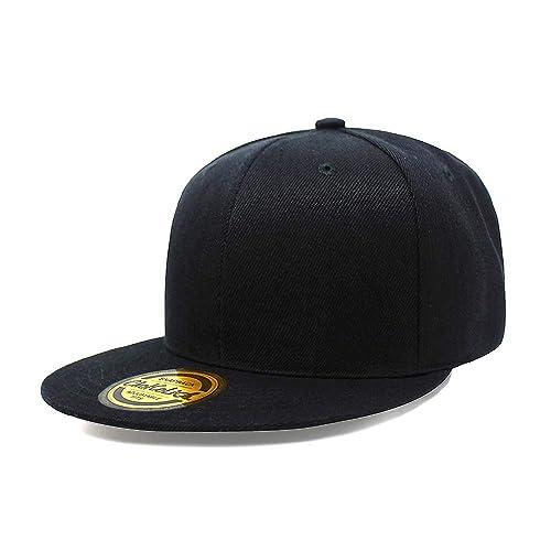 Flat Visor Snapback Hat Blank Cap Baseball Cap - 17 Colors