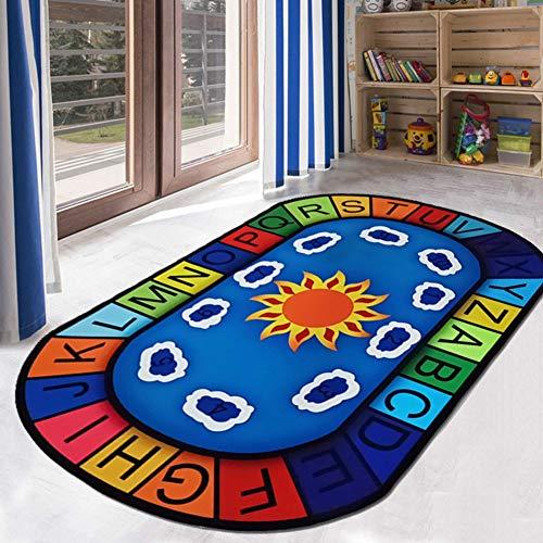 Massage-AED Tapis Enfants Tapis Aera pour l'éducation préscolaire ABC Tapis d'escalade bébé Doux et Confortable 6MM