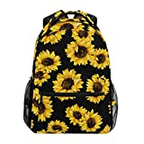 DXG1 Sonnenblumen-Rucksack für Damen, Herren, Teenager, Mädchen, Jungen, Schultasche, Geldbörse, Büchertasche, lässiger Tagesrucksack