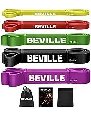 BEVILLE Fitnessbanden resistance band natuurlatex weerstandsbanden gymnastiekband voor krachttraining & pull-up en spieropbouw, Pilate Crossfit Yoga
