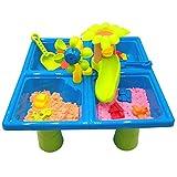 Mesa de arena y agua para niños, mesa de actividades para jugar en la playa, mesa de actividades para niños pequeños,...