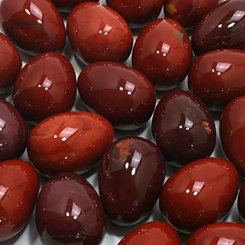 Mokaïte œuf en cristal Rouge