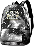 Galaxy Printed Shoulders Bag Greta-Van-Fleet Fashion Casual Star Sky Backpack for Boys&Girls