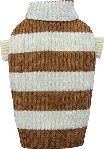 Doggy Dolly W052 gebreide trui voor honden, roze/wit gestreept, XXS Brust 26-28cm, Rücken 13-15cm