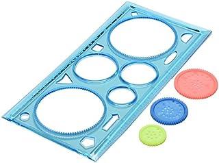 oyfel regla de plástico de pintura plantilla para círculo