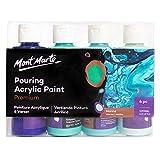 Mont Marte Pinturas Acrilicas Pouring Set Marina – 4 piezas x 120ml...