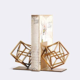 Book Stand, Book End/Reader Stationery Decorative Shelves/Office Library School Home 1 Piece Set zyyqt (Color : Gold)