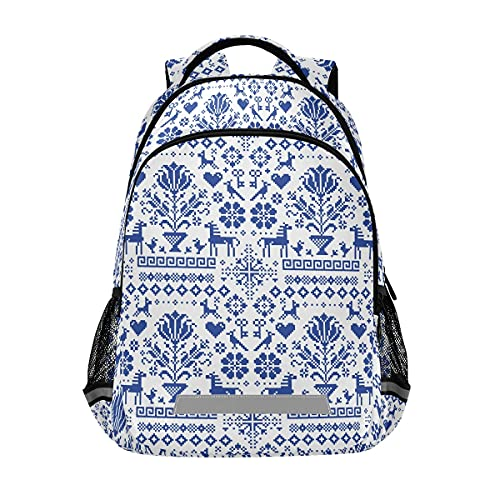 Estilo antiguo bordado con flores animales Mochilas estudiantil mochila bolsa para niños niñas casual bolsa