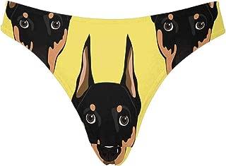 INTERESTPRINT Womens Thongs Elephant Tribal Ornaments Breathable Underwear Panties XS-3XL